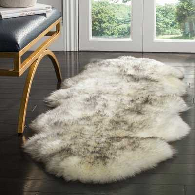 Dax Ivory / Smoke Gray Area Rug - Wayfair