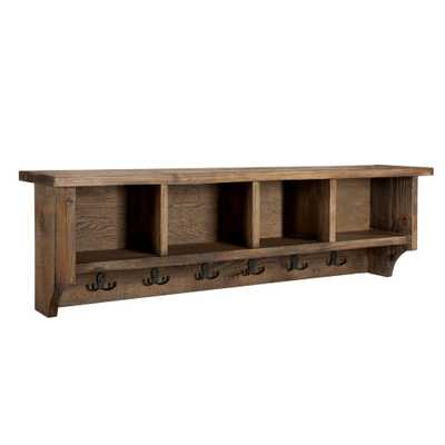 Modesto 48 in. Coat Hooks with Storage in Natural, Rustic/Natural - Home Depot