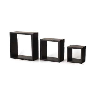 3 Piece Square Shelf Set - Wayfair