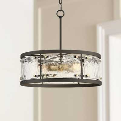 """Campanelli 19"""" Wide Bronze and Brass Drum Pendant Light - Style # 53Y10 - Lamps Plus"""