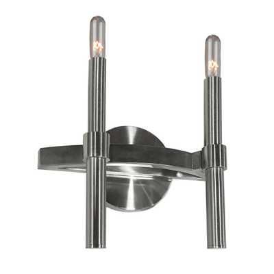 ARTCRAFT 2-Light Polished Nickel Sconce - Home Depot