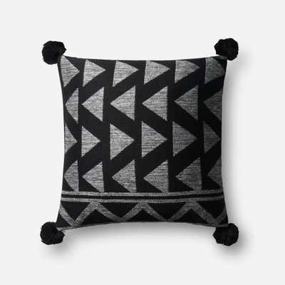 """PILLOWS - BLACK / WHITE - 18"""" X 18"""" Cover Only - Loma Threads"""