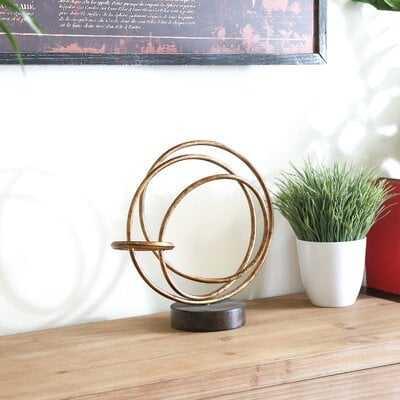 Torbett Round Intertwined Rings Abstract Sculpture - Wayfair