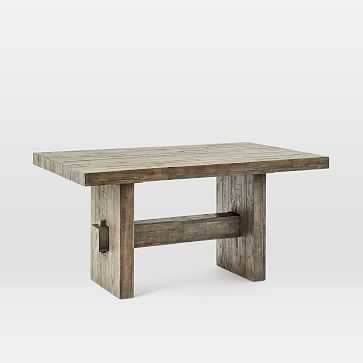 """Emmerson Dining Table 62"""", Stone Gray Pine - West Elm"""