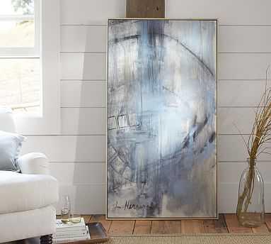 "Orbit Study #2 Framed Canvas, 34 x 61"" - Pottery Barn"