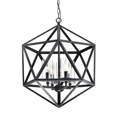 Venita 4-Light Geometric Chandelier - Wayfair