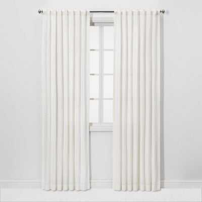 "84""x54"" Light Filtering Honeycomb Curtain Panel White - Threshold - Target"
