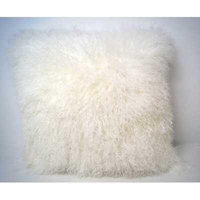 Tibetan Lamb Fur Throw Pillow - AllModern