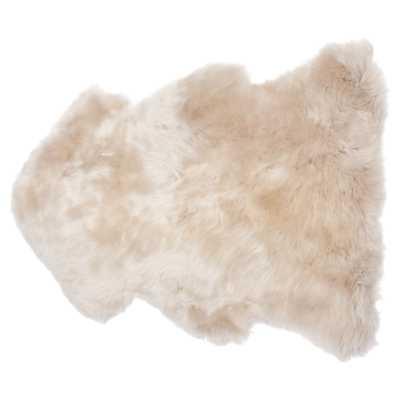 Veruca Modern Toasted Almond Sheepskin Pelt Fur Rug - Kathy Kuo Home