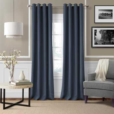 Elrene Home Fashions Elrene Essex 50 in. W x 84 in. L Polyester Single Window Curtain Panel indigo (Blue) - Home Depot