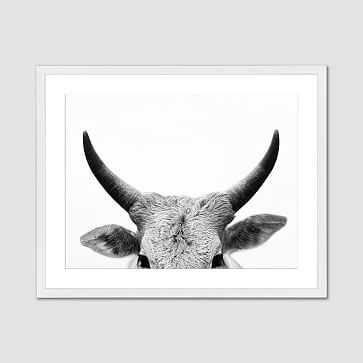 "Minted for west elm, Bull Horns, 30""x40"" - West Elm"