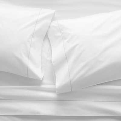 White Percale Sheet Set Full - Crate and Barrel