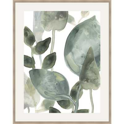 Somersethouse Publishing 30 in. x 24 in. 'water Leaves II' by June Erica Vess Framed Wall Art, Green - Home Depot