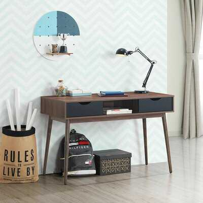 Computer Desk Pc Laptop Writing Table Study Workstation Home W/ Drawers & Shelf - Wayfair
