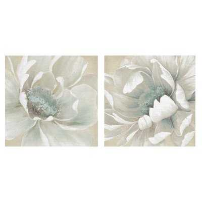 'Winter Blooms I and II' 2 Piece Acrylic Painting Print Set on Wrapped Canvas - Wayfair