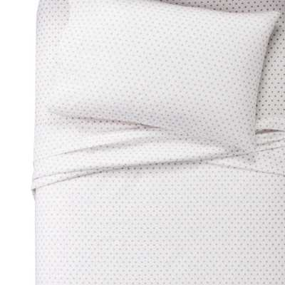 Twin Metallic Dots 100% Cotton Sheet Set - Pillowfort, White - Target