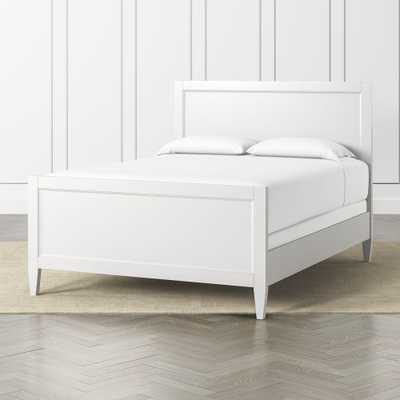 Harbor White Queen Bed - Crate and Barrel
