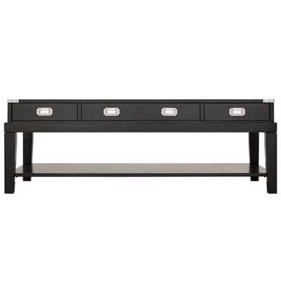 Sumner Black Coffee Table - Home Depot