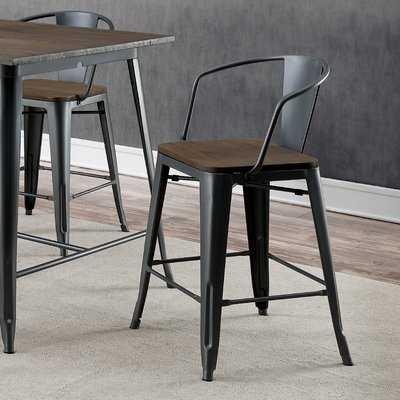 Kayman Industrial Counter Height Dining Chair - Wayfair