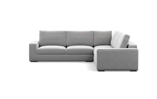 Ainsley Corner Sectional with Ash Fabric and Oiled Walnut legs - Interior Define