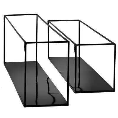 2 Piece Rectangle Floating Shelves - Wayfair