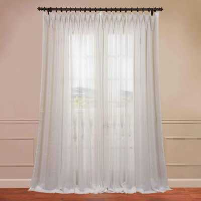 Exclusive Fabrics & Furnishings Signature Double Wide Sheer Curtain in Off White - 50 in. W x 96 in. L - Home Depot