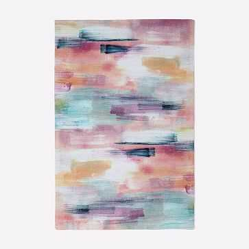 MTO Layered Brushstrokes Rug, Multi, 6x9 - West Elm