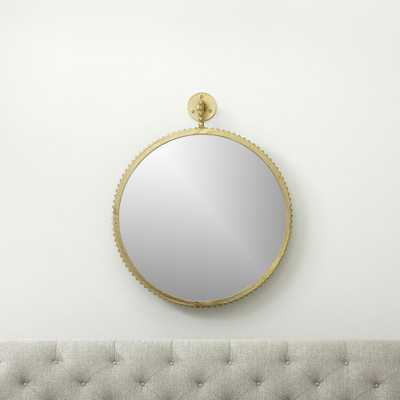 Cru Aged Gold Large Mirror - Crate and Barrel