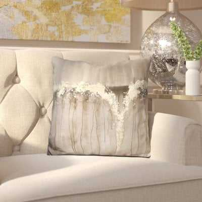 Edgware Champagne and Falls Throw Pillow - Wayfair