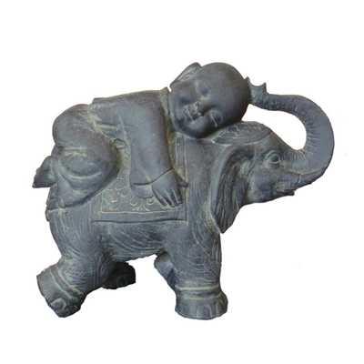 Buddha Child on Elephant - Home Depot