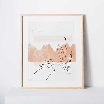 """Kate Arends Framed Print, Santa Fe, Natural, 16""""x20"""" - West Elm"""