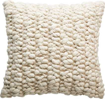 "20"" Tillie Wool Pillow with Feather-Down Insert - CB2"