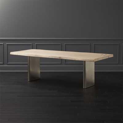 Landscape White Washed  Wood Dining Table - CB2