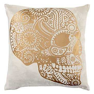 """Sugar Skull Pillow 22"""" - Poly/Feather/Down insert - Z Gallerie"""