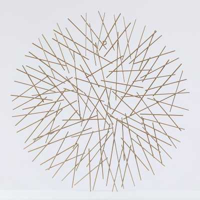 Luxen Home Metal Abstract Sticks Wall Decor, Gold - Home Depot