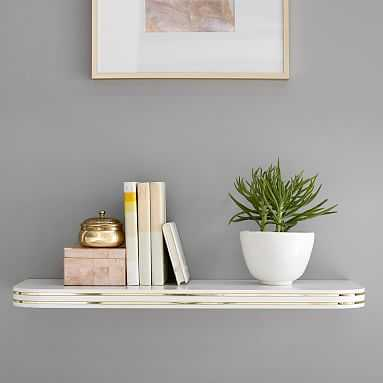 Gold Inlay Shelf, White/Gold - Pottery Barn Teen