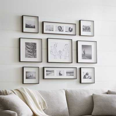 Brushed Antique Bronze Picture Frame Gallery, Set of 9 - Crate and Barrel