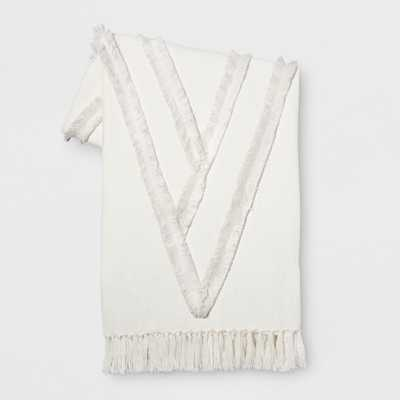 White Moroccan Wedding Oversized End of Bed Throw - Opalhouse - Target