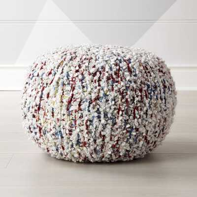 Knit Multicolor Pouf - Crate and Barrel