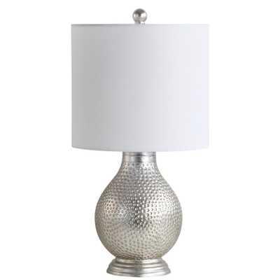 Safavieh Teva 19 in. Silver Table Lamp - Home Depot