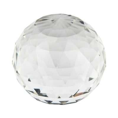 Decorative Glass Faceted Orb Sculpture - Wayfair