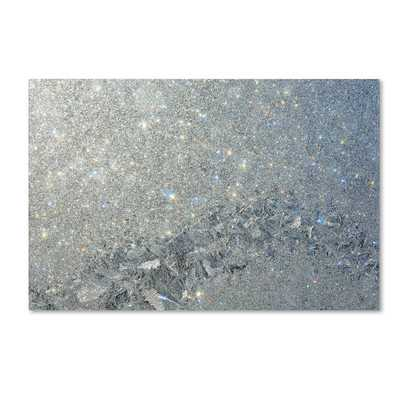 'Frost Pattern Sun Stars' Photographic Print on Wrapped Canvas - Wayfair