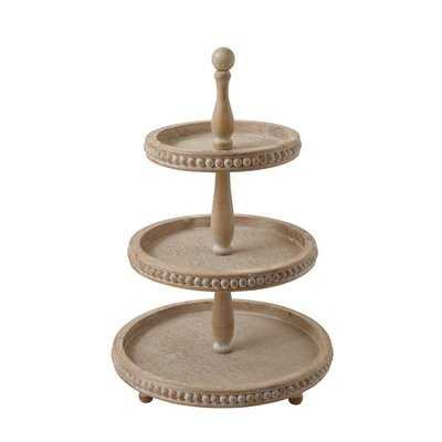 Braymer 3-Tier Wood Coffee Table Tray - Birch Lane