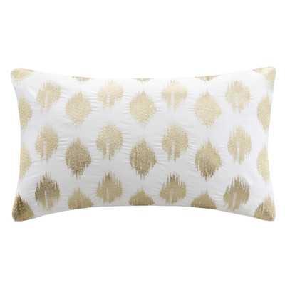 Behan Cotton Ikat Lumbar Pillow - Birch Lane