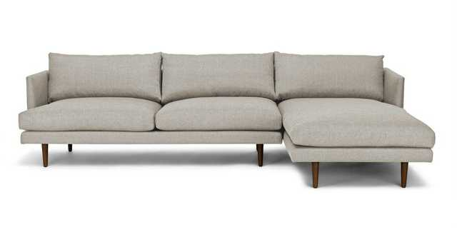 Burrard Seasalt Gray Right Sectional Sofa - Article
