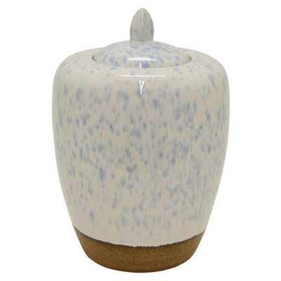 14 in. Ceramic Jar, White - Home Depot