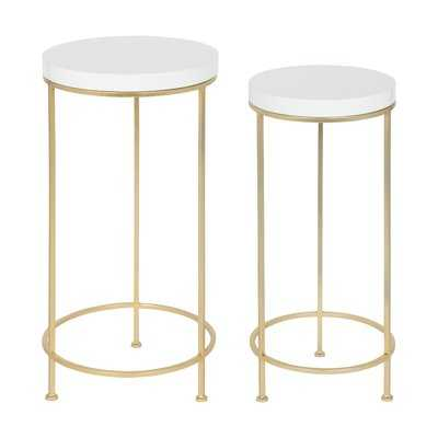 Shona Metal and Wood 2 Piece Nesting Tables - Wayfair