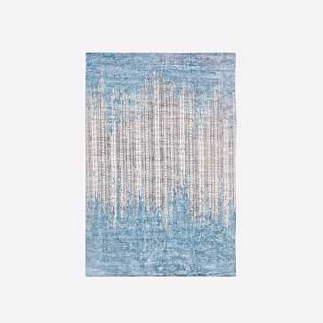 Echo Print Rug, Dusty Blue, 6'x9' - West Elm