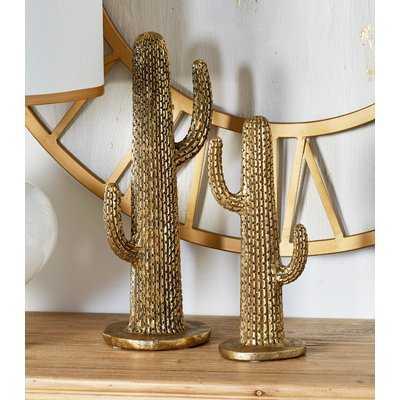 Natoas Natural Cactus 2 Piece Sculpture Set - Wayfair
