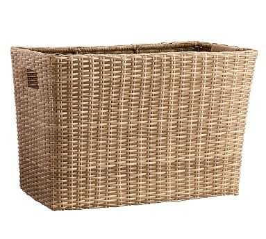 Torrey Outdoor Rectangle Basket - Natural - Pottery Barn